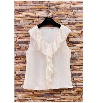 textil Dam Blusar Fashion brands ERMD-13797-CP-BLANC Vit