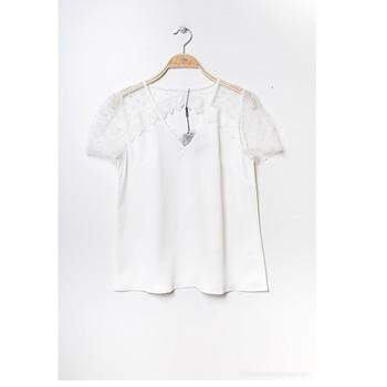 textil Dam Blusar Fashion brands K5518-WHITE Vit