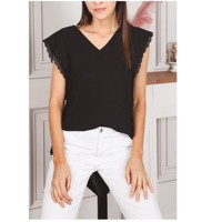 textil Dam Blusar Fashion brands F2106-BLACK Svart