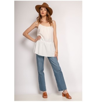 textil Dam Blusar Fashion brands 490-WHITE Vit