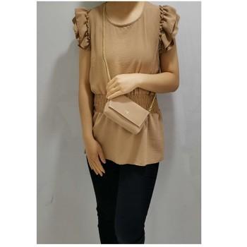 textil Dam Blusar Fashion brands 3101-CAMEL Kamel