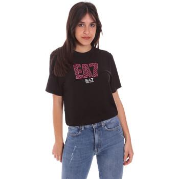 textil Dam T-shirts Ea7 Emporio Armani 3KTT23 TJ1TZ Svart