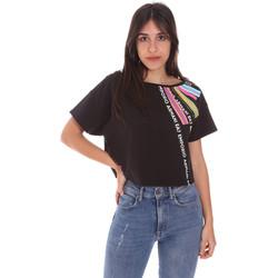 textil Dam T-shirts Ea7 Emporio Armani 3KTT40 TJ39Z Svart