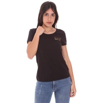 textil Dam T-shirts Ea7 Emporio Armani 8NTT65 TJ28Z Svart
