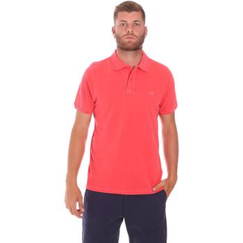 textil Herr Kortärmade pikétröjor Sundek M787PLPQ1TC Röd