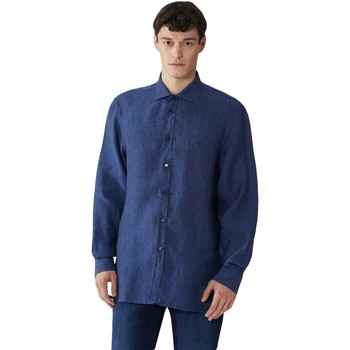 textil Herr Långärmade skjortor Trussardi 52C00212-1T002248 Blå