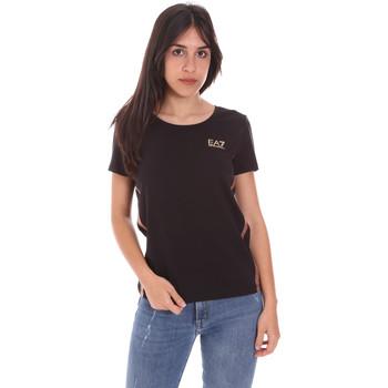 textil Dam T-shirts Ea7 Emporio Armani 3KTT51 TJ9VZ Svart