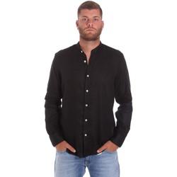 textil Herr Långärmade skjortor Refrigiwear RM0C10100LI9110 Svart