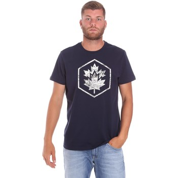 textil Herr T-shirts Lumberjack CM60343 023EU Blå