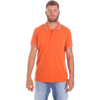 textil Herr Kortärmade pikétröjor Lumberjack CM45940 016EU Orange