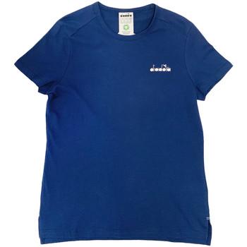 textil Dam T-shirts Diadora 102175882 Blå