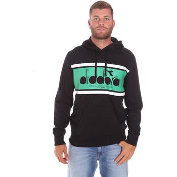 textil Herr Sweatshirts Diadora 502173625 Svart
