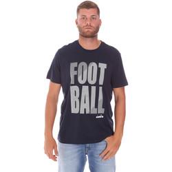 textil Herr T-shirts Diadora 102175854 Blå
