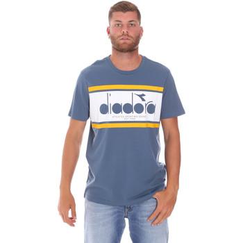 textil Herr T-shirts Diadora 502176632 Blå