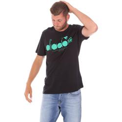 textil Herr T-shirts Diadora 502176633 Svart