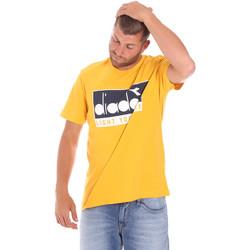 textil Herr T-shirts Diadora 502175835 Gul