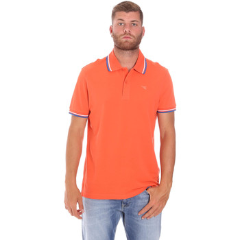 textil Herr Kortärmade pikétröjor Diadora 102161006 Orange