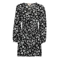 textil Dam Korta klänningar Moony Mood PAPIS Svart / Vit