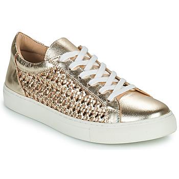 Skor Dam Sneakers Cosmo Paris WELLY Guldfärgad