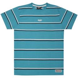 textil Herr T-shirts Jacker Poh stripes Blå
