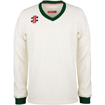 textil Sweatshirts Gray-Nicolls GN029 Elfenben/grön
