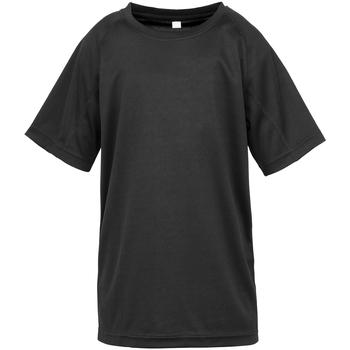 textil Pojkar T-shirts Spiro S287J Svart
