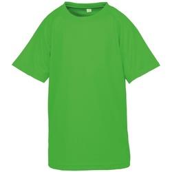 textil Pojkar T-shirts Spiro S287J Flo Green