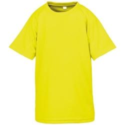 textil Pojkar T-shirts Spiro S287J Flo Yellow