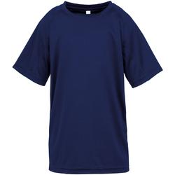 textil Pojkar T-shirts Spiro S287J Marinblått