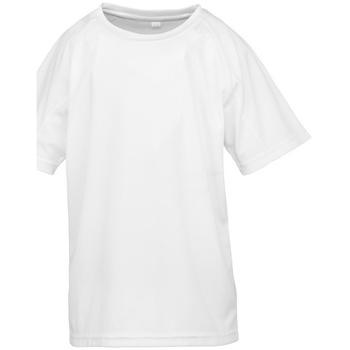 textil Pojkar T-shirts Spiro S287J Vit