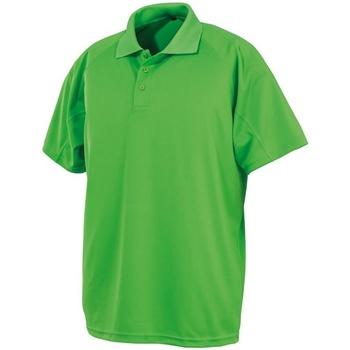 textil Herr Kortärmade pikétröjor Spiro S288X Lime