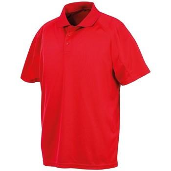 textil Herr Kortärmade pikétröjor Spiro S288X Röd