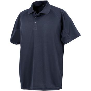 textil Herr Kortärmade pikétröjor Spiro S288X Marinblått