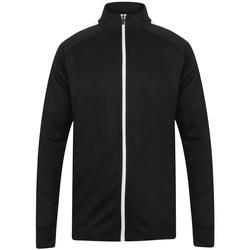 textil Herr Sweatjackets Finden & Hales LV871 Svart/vit