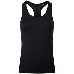 textil Dam Linnen / Ärmlösa T-shirts Tridri TR209 Svart, helt svart