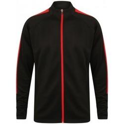 textil Pojkar Sweatjackets Finden & Hales LV873 Svart/röd