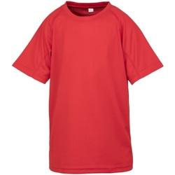 textil Barn T-shirts Spiro S287J Röd