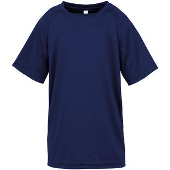 textil Barn T-shirts Spiro SR287B Marinblått