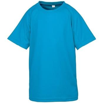 textil Barn T-shirts Spiro SR287B Havsblått