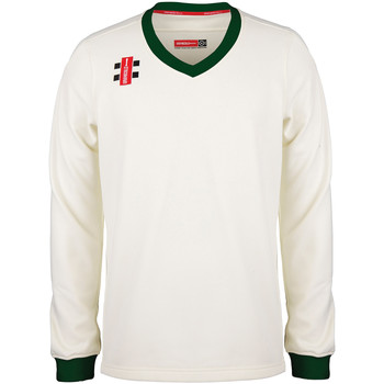 textil Barn Sweatshirts Gray-Nicolls GN29J Elfenben/grön