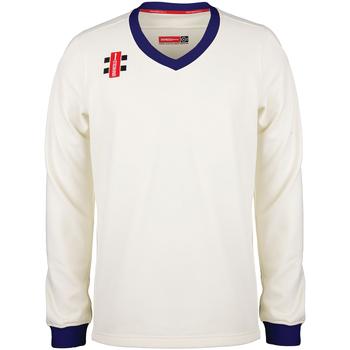 textil Barn Sweatshirts Gray-Nicolls GN29J Elfenben/Navy