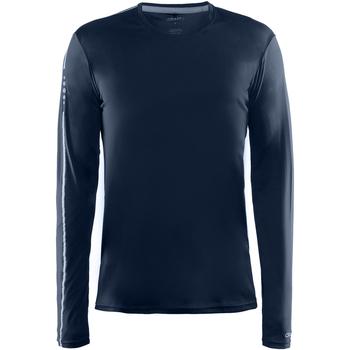 textil Herr Långärmade T-shirts Craft CT089 Marinblått