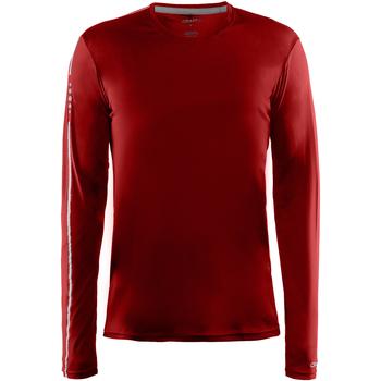 textil Herr Långärmade T-shirts Craft CT089 Röd
