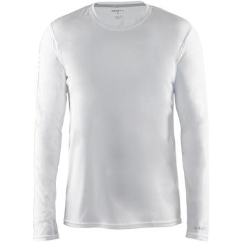 textil Herr Långärmade T-shirts Craft CT089 Vit