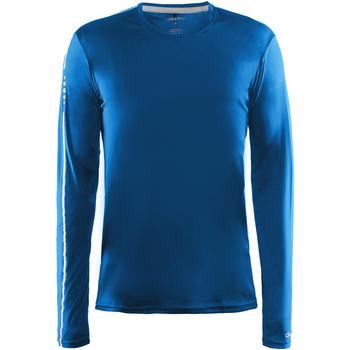 textil Herr Långärmade T-shirts Craft CT089 Svensk blå