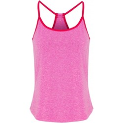 textil Dam Blusar Tridri TR043 Rosa melange/varm rosa