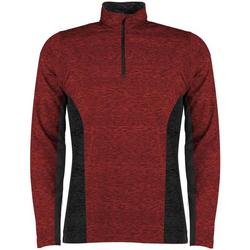 textil Herr Långärmade T-shirts Rhino RH013 Röd/Svart