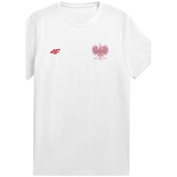 textil Herr T-shirts 4F TSM950 Vit