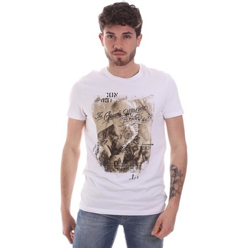 textil Herr T-shirts Gaudi 111GU64091 Vit