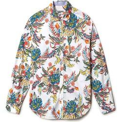 textil Herr Långärmade skjortor Napapijri NP0A4F86 Vit